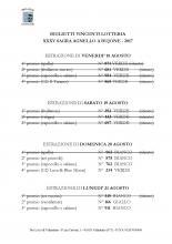 Lotteria XXXV Sagra Agnello a bujone